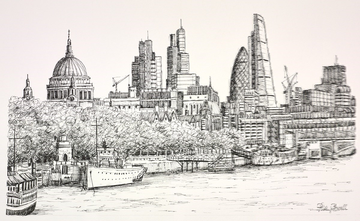 St Paul's and the City (Sketch)